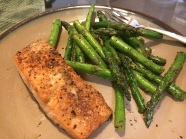 Maple & Mesquite seasoned Salmon...yum