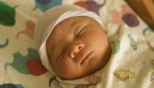 Isaiah sleeping
